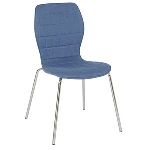 Nina stol - Blå / krom