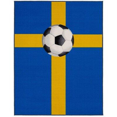 Fotbollsmatta Sverige - 133x170 cm