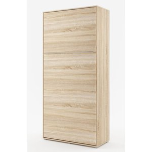 Sängskåp compact living Vertikalt (90x200 cm fällbar säng) - Ljus ek