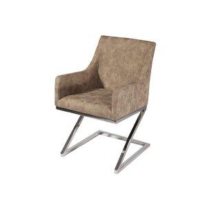Madrid stol - Krom/läder