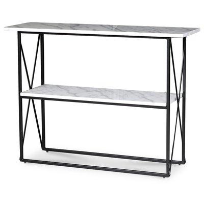 Paladium konsolbord - Svart / Äkta ljus marmor