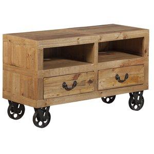 TV-bänk Stonemill Rustik - 2 lådor (furu)