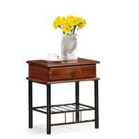 Vivian sängbord - antik körsbär/svart