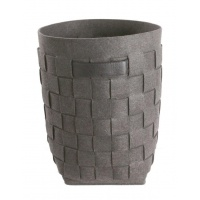 Tvättkorg i filt med handtag - grå