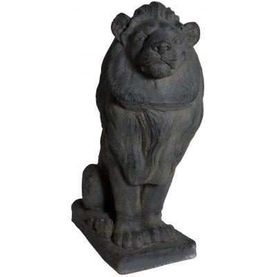 Trädgårdskonst Staty lejon - H80 cm