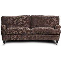 Howard Sir William svängd soffa (Dun) - Mobus Chocolate Floral