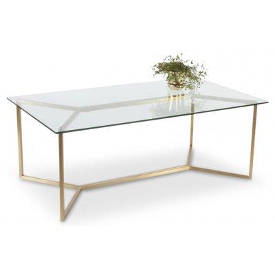 Palma soffbord 130 cm - Glas / Mässing