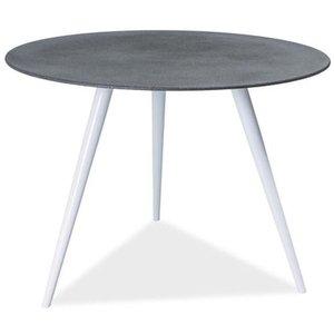 Cafébord Dulce - Grå/vit