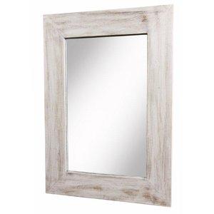Spegel flat stor - Vit