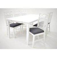 Sandhamn matgrupp - Bord inklusive 6 st Gripsholm stolar - Vit