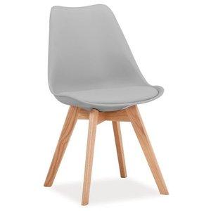 Jeremiah stol - Ljusgrå/ek