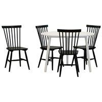 Matgrupp: Day matbord - vit + 4 st Karl pinnstol - svart