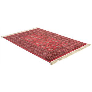 Konstsilkesmatta Ankara Silk - Röd