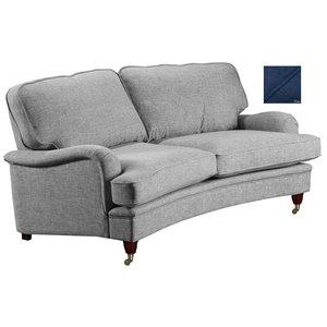 Howard Luxor svängd 3-sits soffa 195 cm - Mörkblå