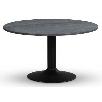 Empire matbord - Grå marmor / Svart trumpetfot