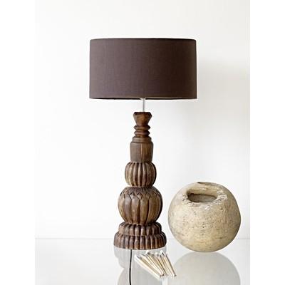 Bordslampa Wood - Brun