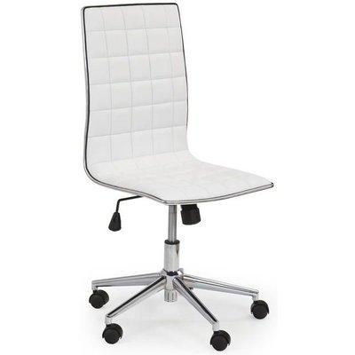Blakely skrivbordsstol - Vit / Krom