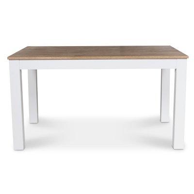 Dalarö matbord 180 cm - vit / oljad ek
