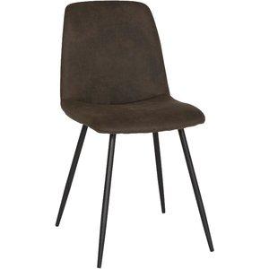 Smokey matstol - Gråbrun vintage