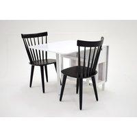 Sofiero matgrupp - Bord inklusive 2 st stolar - Vit / svart