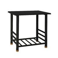 Madrid sängbord - svart metall/svart topp