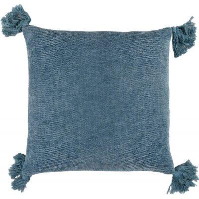 Tassle kuddfodral 45x45 cm - Blue