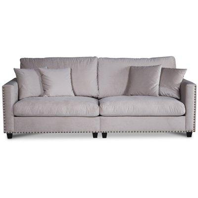 Avenue 4-sits soffa - Beige Sammet