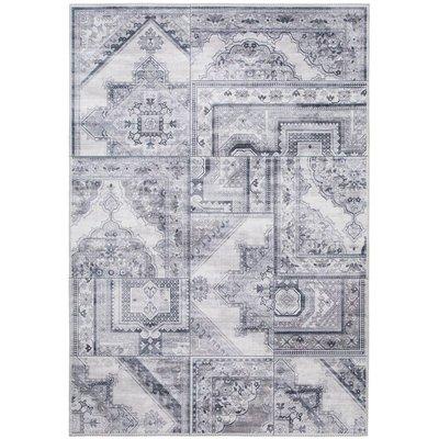 Maskinvävd matta Cleo Patch - Grå