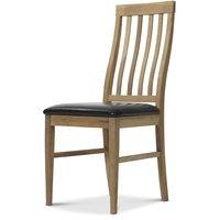 Lilian stol - oljad ek / svart konstläder (PU)