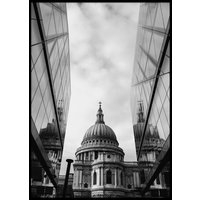 BUILDING REFLECTION - Poster 50x70 cm