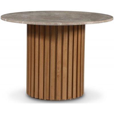 Sumo matbord Ø105 cm - Oljad ek / Beige Empradore