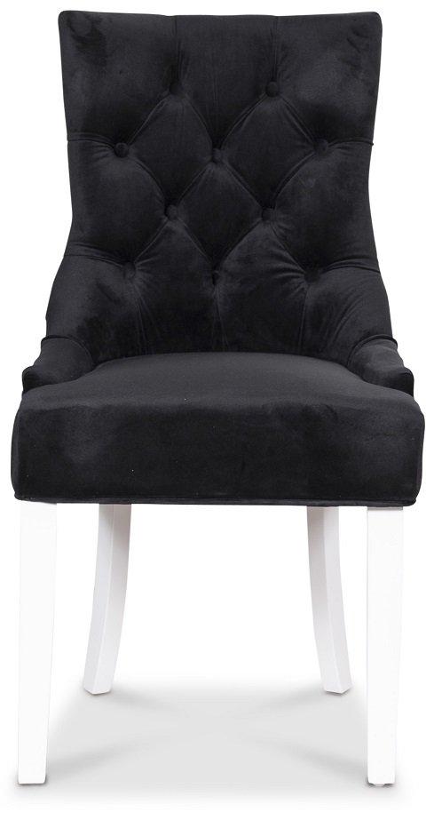 Tuva Decotique stol (Rygghandtag) Svart sammet