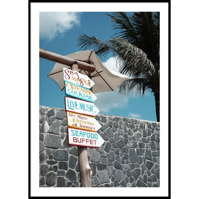 TROPICAL SIGNS - Poster 50x70 cm