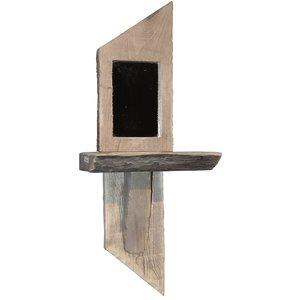 Vägghylla med Spegel - Återvunnet trä