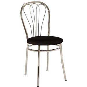 Maritza stol - Svart/krom