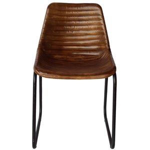 Säter stol - Metall/läder