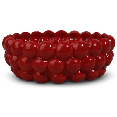 Skål Big bouble H13 cm - Röd