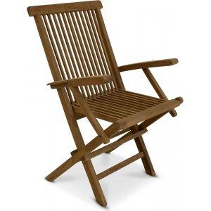 Grunnebo stol med armstöd - Teak