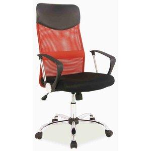Kvissle skrivbordsstol - Svart/röd