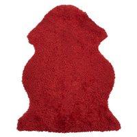 Curly fårskinn - 95x55 cm - Röd