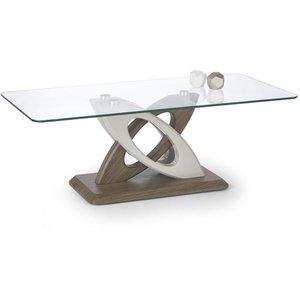 Bernadett matbord 127 cm - Ljusgrå/mörk ek