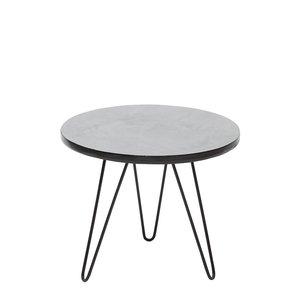 Becka sidobord - Svart/grå