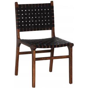 Porto Bello stol - Svart / Valnöt