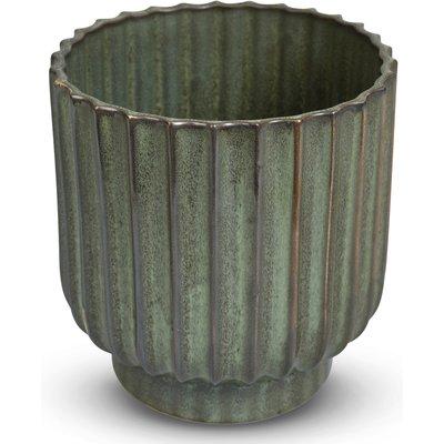 Kruka Dreja H18 cm - Grön