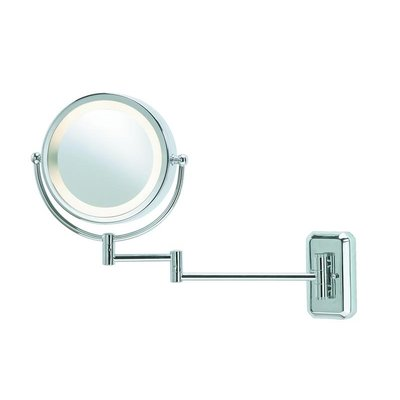Face Vägglampa med spegel - Krom