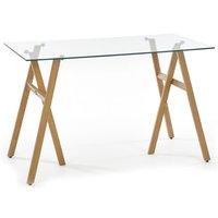 Misty skrivbord - Ek / Glas