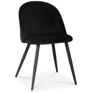 Alice stol - Svart sammet / Svarta ben