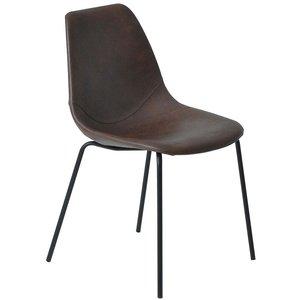 Sävsjö stol - Mörkbrun/svart