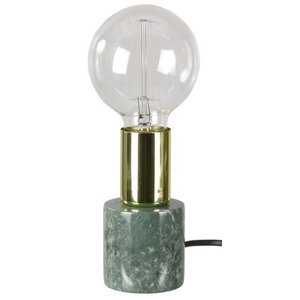 Bordslampa Stensjö - Grön marmor / Mässing