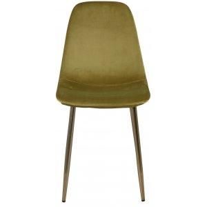 Paradis velvet stol - Grön / Mässing